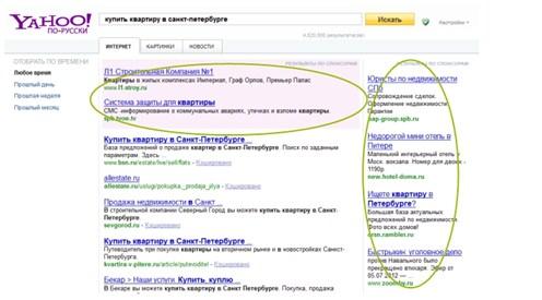 Контекстная реклама на поиске от Yahoo
