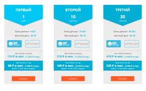 Тарифы на ISPserver